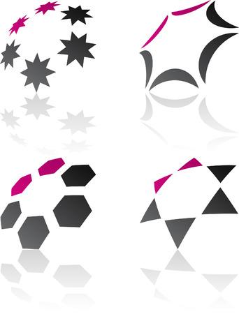 Abstract design symbols. Vector illustration. Stock Vector - 6308540