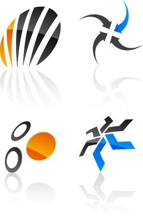 Abstract design symbols. Vector illustration. Vector