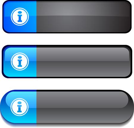 Info  web buttons. Vector illustration. Stock Vector - 6312609