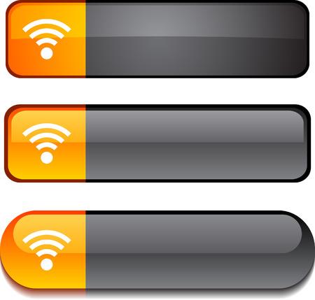 rss:  Rss   web buttons. Vector illustration. Illustration