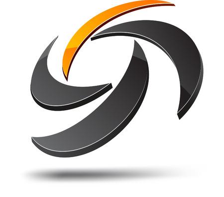 loghi aziendali: Elemento di disegno astratto. Illustrazione vettoriale.