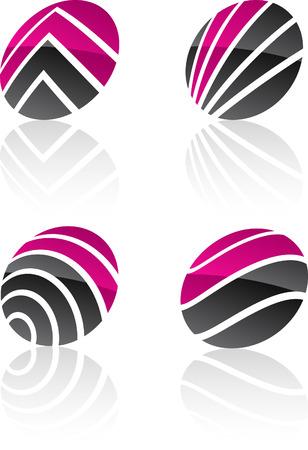 Abstract swirl symbols. Vector illustration. Stock Vector - 6313456