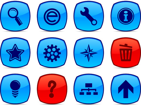 web glossy icons. Vector buttons. Stock Vector - 6313472
