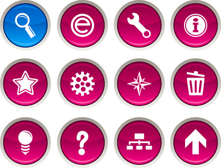 web glossy icons. Vector buttons. Stock Vector - 6344216