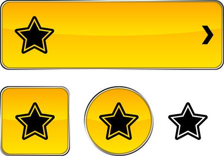 Star   web buttons. Vector illustration. Stock Vector - 6350923