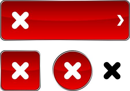 Cross   web buttons. Vector illustration. Stock Vector - 6350918