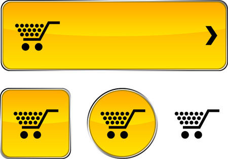 Shopping  web buttons. Vector illustration.  Stock Vector - 6350931