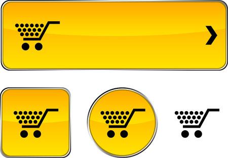 Shopping  web buttons. Vector illustration. Stock Vector - 6350931