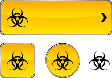Virus  web buttons. Vector illustration. Stock Vector - 6362394