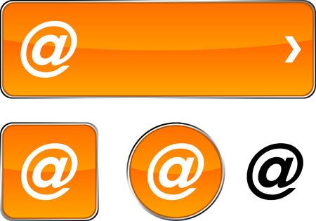 arroba: Arroba web buttons. Vector illustration.  Illustration