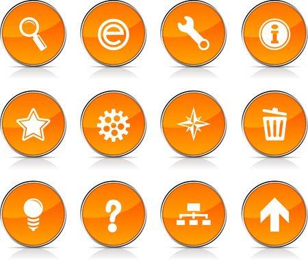 web  glossy icons. Vector buttons.  Stock Vector - 6362344