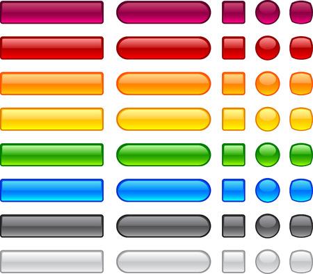 Blank web buttons. Vector illustration. Stock Vector - 6362439