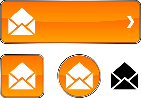 e-mail  web buttons. Vector illustration.  Stock Vector - 6362475
