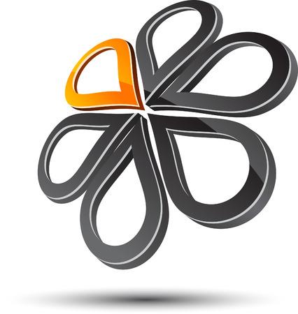 Elemento de diseño abstracto. Ilustración vectorial.  Ilustración de vector
