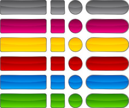 Blank web buttons. Vector illustration. Stock Vector - 6375212