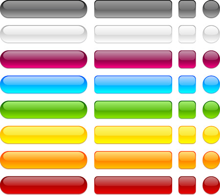 Buttons: Blank web buttons. Vector illustration.