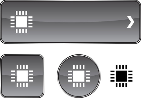 Cpu  web buttons. Vector illustration. Vector