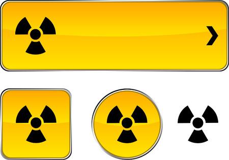 Radiation  web buttons. Vector illustration.  Vector
