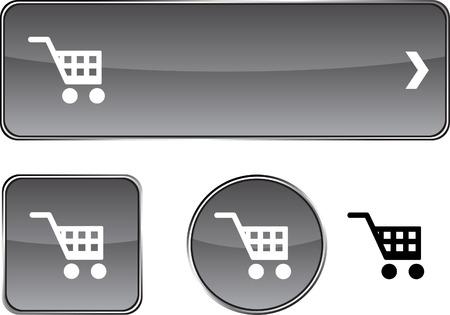 Buy  web buttons. Vector illustration.  Vector