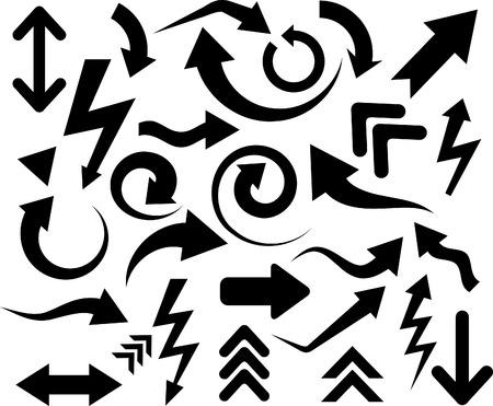 flechas: Colecci�n de flechas. Ilustraci�n vectorial.