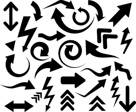 Collection of arrows. Vector illustration. Stock Vector - 6381896