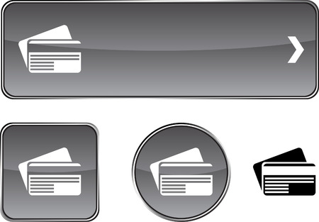 Card   web buttons. Vector illustration. Stock Vector - 6405654