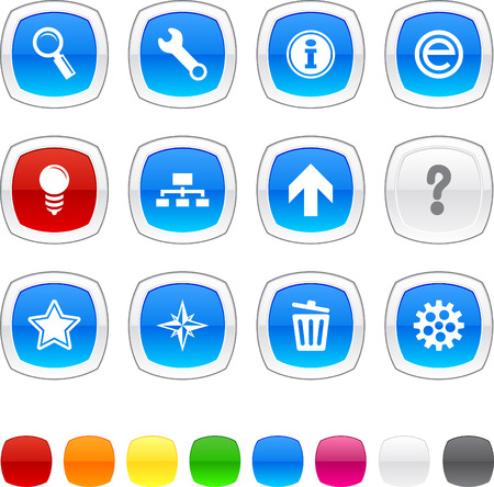 web glossy icons. Vector buttons. Stock Vector - 6416302