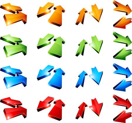 return: Set of return arrows. Vector.  Illustration