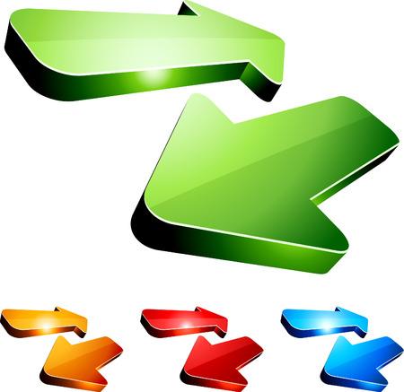 flechas direccion: Conjunto de flechas de retorno. Vector.