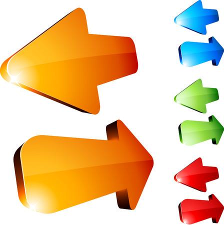 recurrence: Set of return arrows. Vector.  Illustration