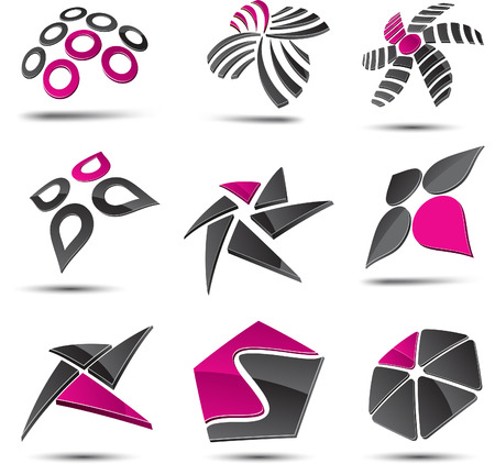 vector abstract: Abstract design elements. Vector illustration. Illustration
