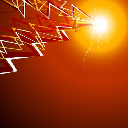 luminous: Luminous flash background. Vector illustration.  Illustration