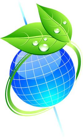 icono ecologico: Icono de ecol�gico �nico. Ilustraci�n vectorial. Vectores