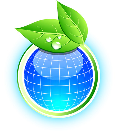 Beautiful eco icon. Vector illustration.  Vector