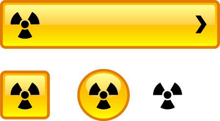 Radiation web buttons. Vector illustration. Stock Vector - 6424915