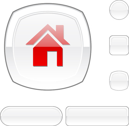 Home white buttons.  Stock Vector - 6469467