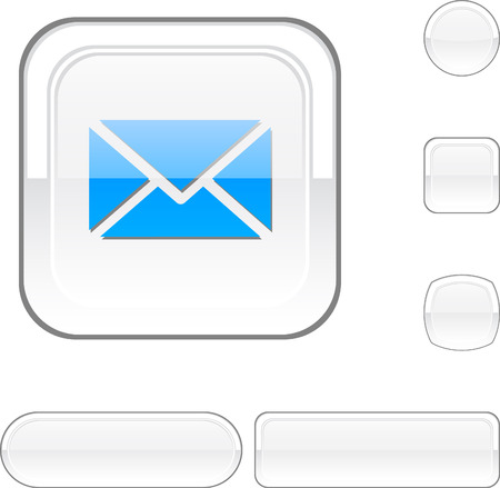 email icon: mail white buttons. Illustration
