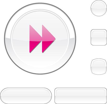 Forward white buttons.  Stock Vector - 6482823