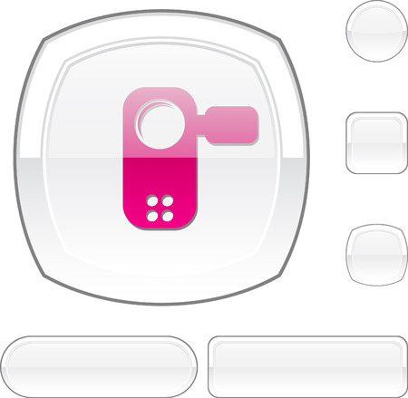 Video white buttons. Vector illustration. Stock Vector - 6493118