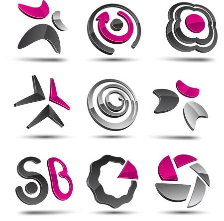Abstract design elements. Vector illustration. Illustration