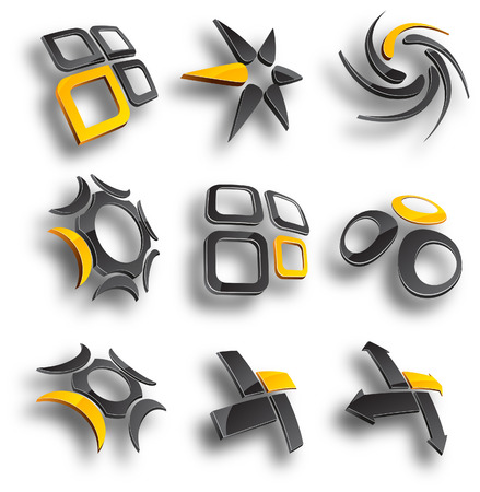 Abstract design elements. Vector illustration. Stock Vector - 6517588