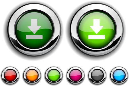 Download realistic buttons. Vector illustration.  Stock Vector - 6537823