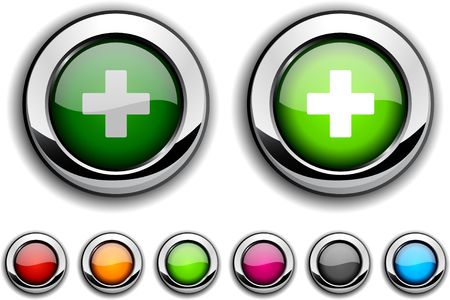 Switzerland realistic buttons.  illustration.  Vector