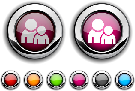 Forum realistic buttons. illustration.  Vector