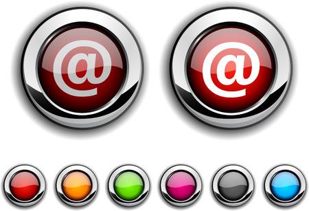 arroba: Arroba realistic buttons.  illustration. Illustration