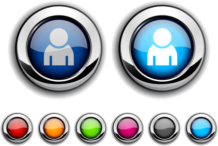 Person realistic buttons. illustration.  Stock Vector - 6569822