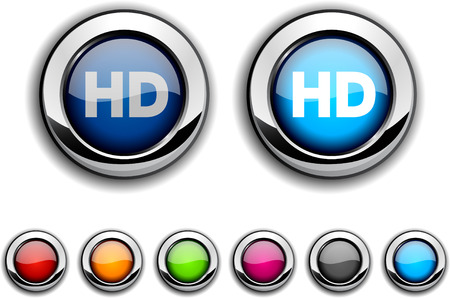 definitions: HD realistic buttons. illustration.