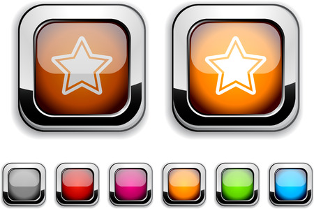 Star realistic icons. Empty buttons included.  Stock Vector - 6580029