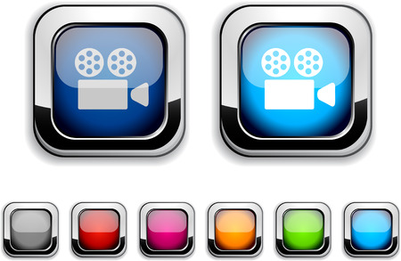Cinema realistic icons. Empty buttons included. Stock Vector - 6580026