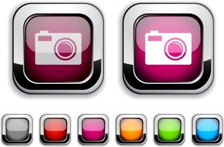Photo realistic icons. Empty buttons included. Stock Vector - 6580031